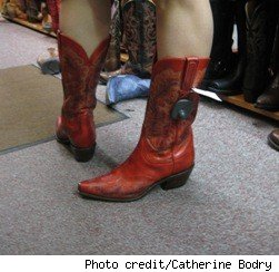 Your foot should slide easily in the boot and should not bind. The