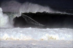 Surfers ride monster wave off the coast of Ireland
