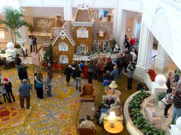 Disney edible Christmas display - Grand Floridian gingerbread house