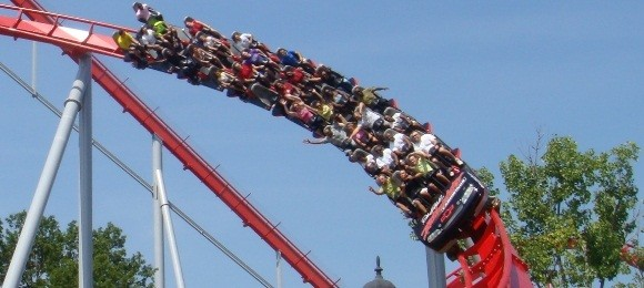 Intimidator at Carowinds - Race themed roller coasters