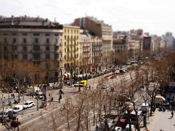 photo day tilt-shift barcelona