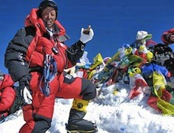 Apa Sherpa has reached the summit of Everest for a record 21st time.