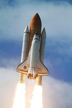 Space Shuttle Atlantis blasted off on its last mission ever
