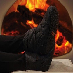 gadling skymall monday rechargeable heated slippers