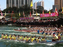 The International Dragon Boat Festival in Hong Kong