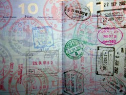 american passport with stamps