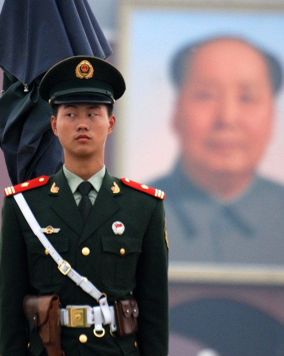 chinese soldier with mao