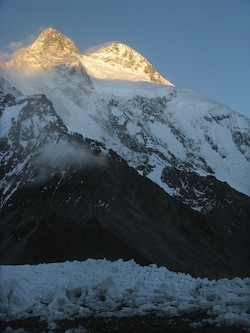 Broad Peak in Pakistan's Karakoram Mountain Range
