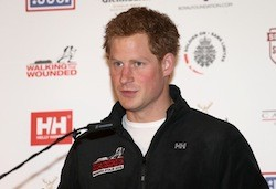 Prince Harry annoucing his expedition to the South Pole