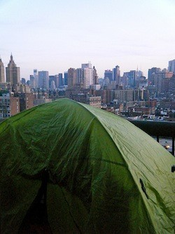 urban camping in Manhattan