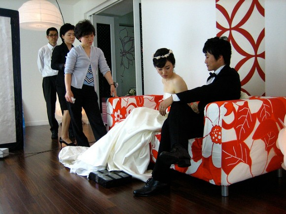 korean wedding photo shoot
