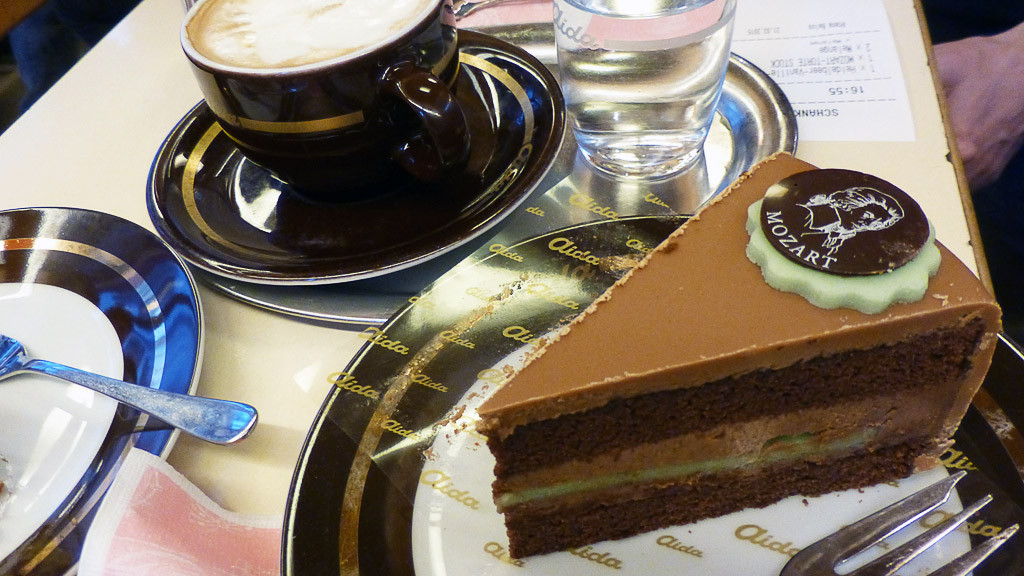 Mozart torte at Cafe Aida by Pam Mandel